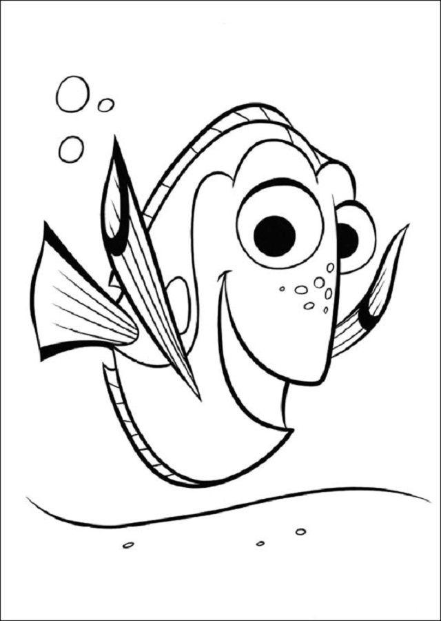 Pin Von Fairtoner De Auf Findet Nemo Ausmalbilder Disney