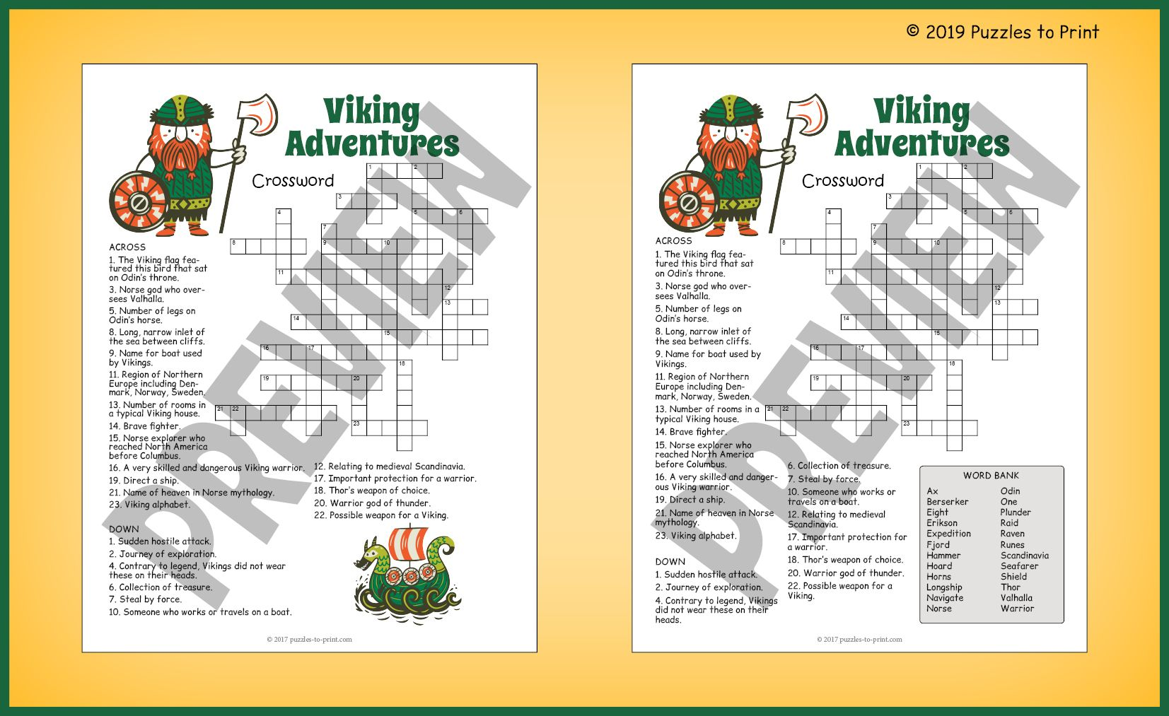 History Of The Vikings Crossword Puzzle By Puzzles To Print Teachers Pay Teachers Crossword Puzzle Vikings For Kids Word Find