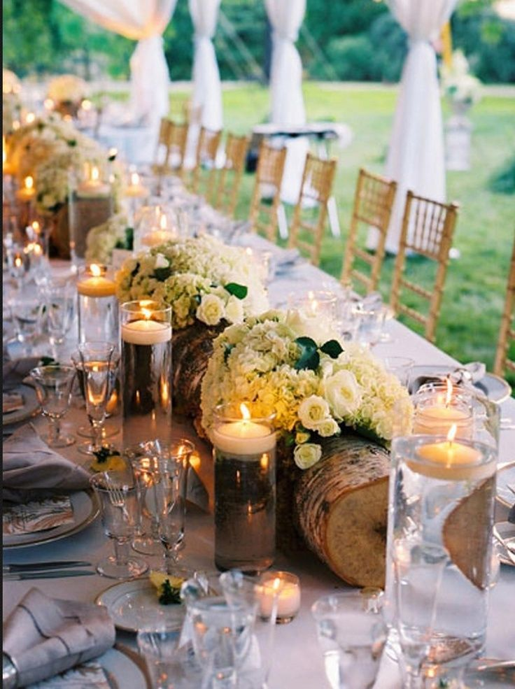Rustic Wedding Tablescapes Outdoor Wedding Reception