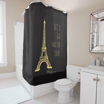 Fall In Love Paris Romantic Eiffel Tower Shower Curtain Zazzle