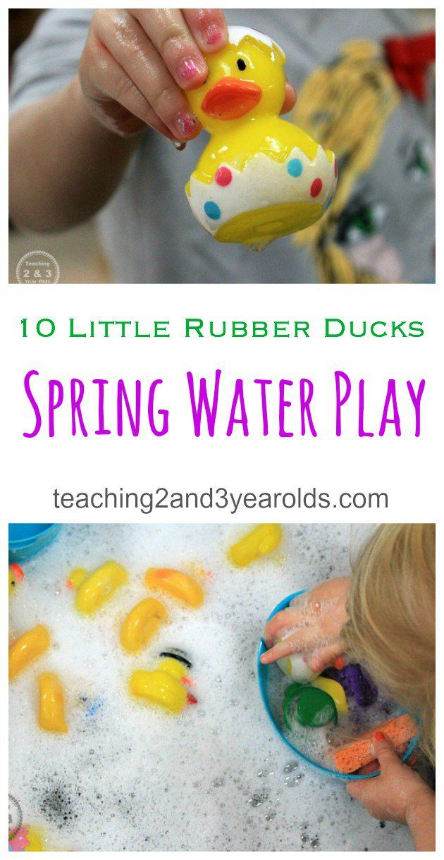 Toddler Spring Sensory Play With 10 Rubber Ducks Preschool Activities Toddler Activities Teaching Toddlers