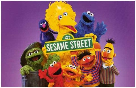 SESAME STREET CAST BIG BIRD GROVER ELMO 11x17 POSTER