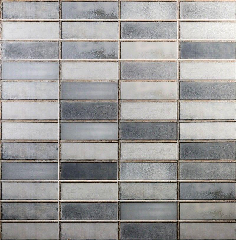 Diesel Industrial Glass Gray 4x12 Ceramic Tile #whitesubwaytilebathroom