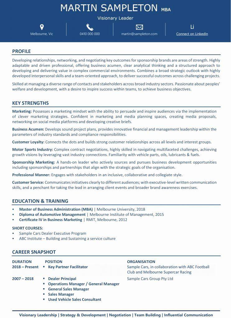 MBA Grad Resume Authentic Resume Branding Resume