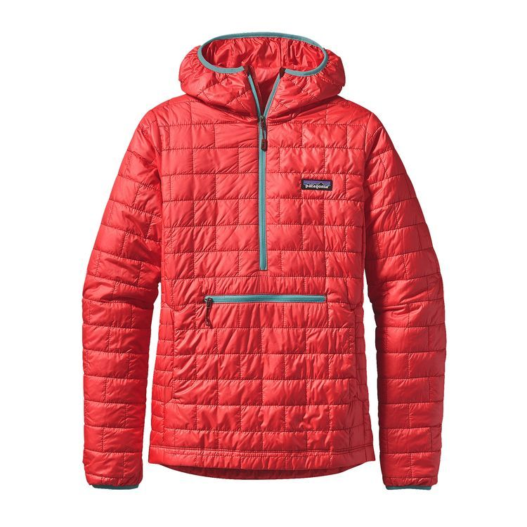 Patagonia Womens Nano Puff Bivy Pullover French Red | Women's ...