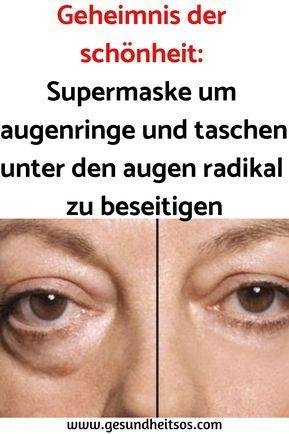 Secreto de belleza: Súper máscara alrededor de ojeras y bolsas debajo de los ojos