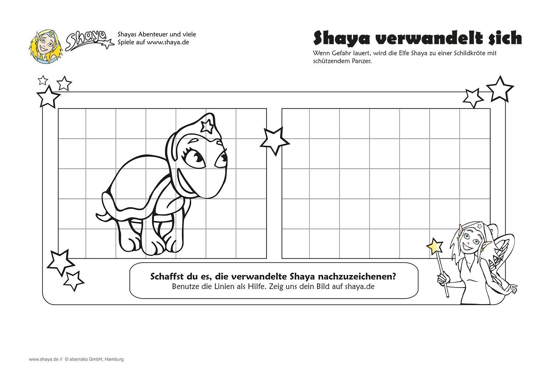 Schaffst du es die verwandelte Shaya nachzuzeichnen? #kids #printable #drawing #fun