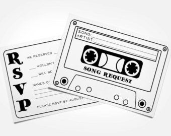 50 Cassette Tape Song Request Rsvp Cards Song Request Rsvp Wedding Cards Wedding Rsvp