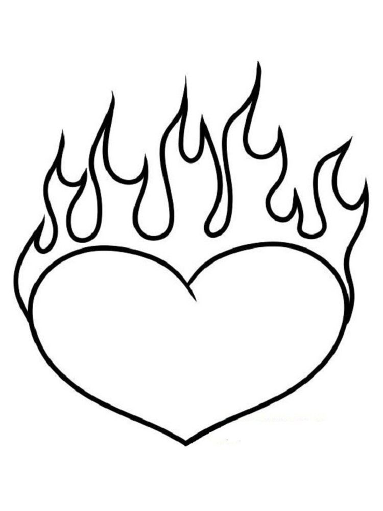 Heart Colouring Pages For Adults Love Is The Basic Need Of Every Human Being We Cannot Live Without Love In 2020 Heart Coloring Pages Love Coloring Pages Fire Heart