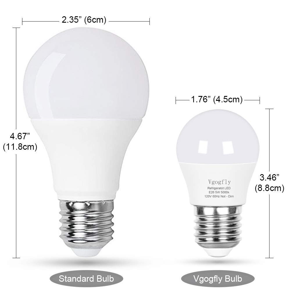 Led Refrigerator Light Bulb 40w Equivalent 120v A15 Fridge Waterproof Bulbs 5 W Daylight White Details Can Be Found By Clickin In 2020 Light Bulb Home Lighting Bulb