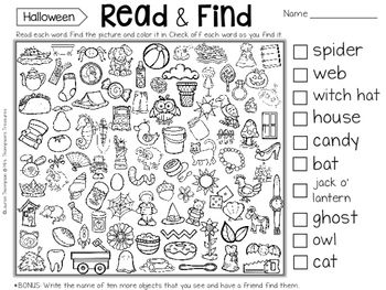 Read & Find Hidden Picture Puzzles | education | Pinterest | Picture ...