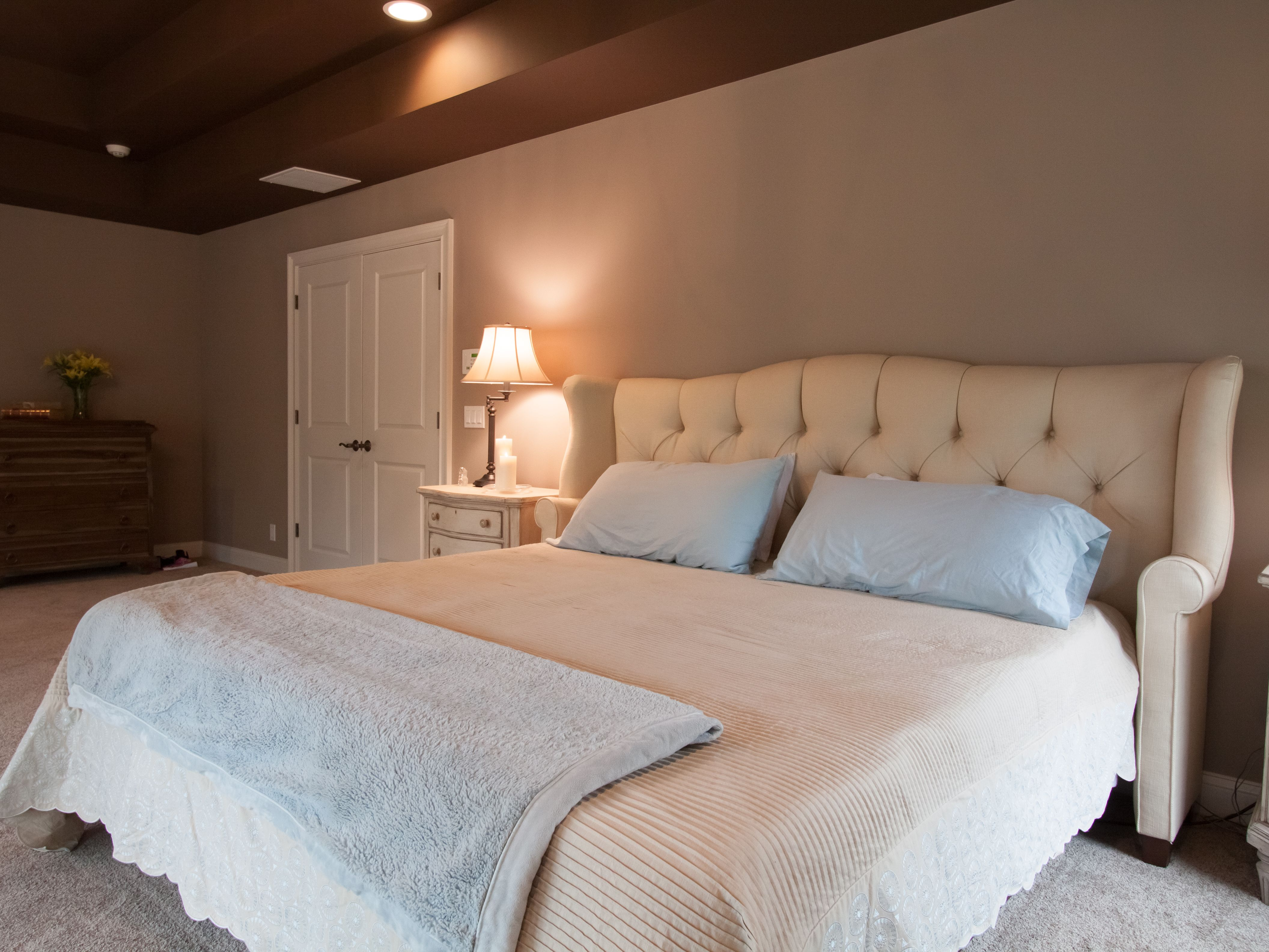 Plenty of space in this renovated bedroom.