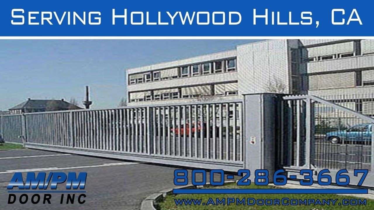 Hollywood Hills Electric Lock Driveway Security Garage Door Gate