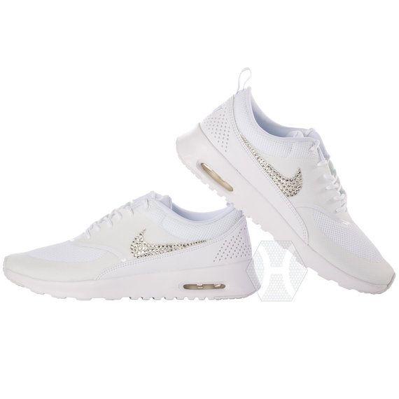 Tiffany Blue Nike Free Runs 3 Womens Swarovski Crystals Nike Air Max Thea  Womens All White [Estyhots Shoes Cheap -