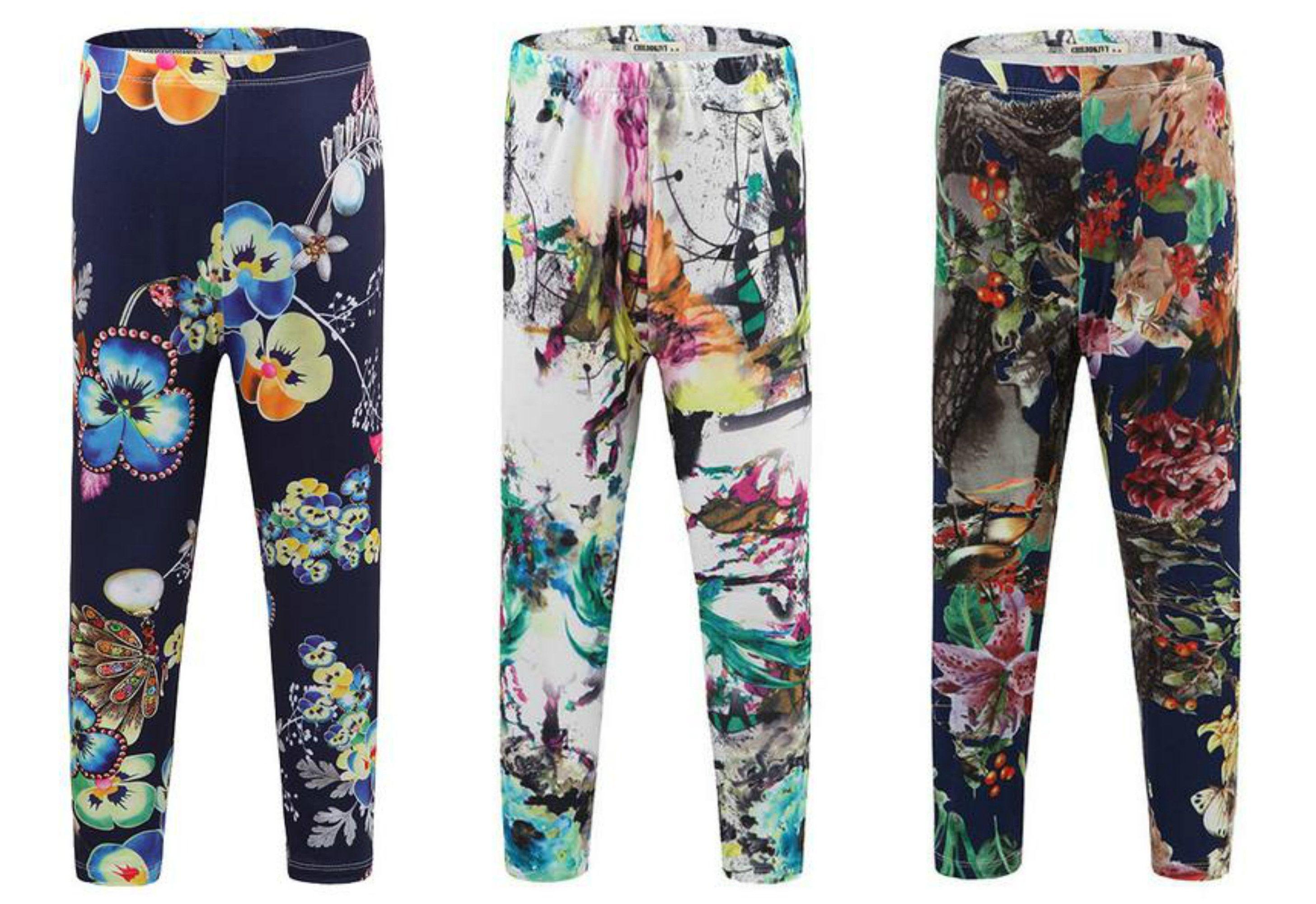 Flower Frenzy Stemz Fashion Pants Cotton Pants Girls Leggings