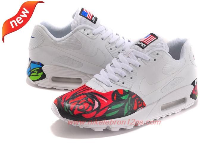 Red Blue Rose 613841-151 Nike Air Max 90 Mens For Sale