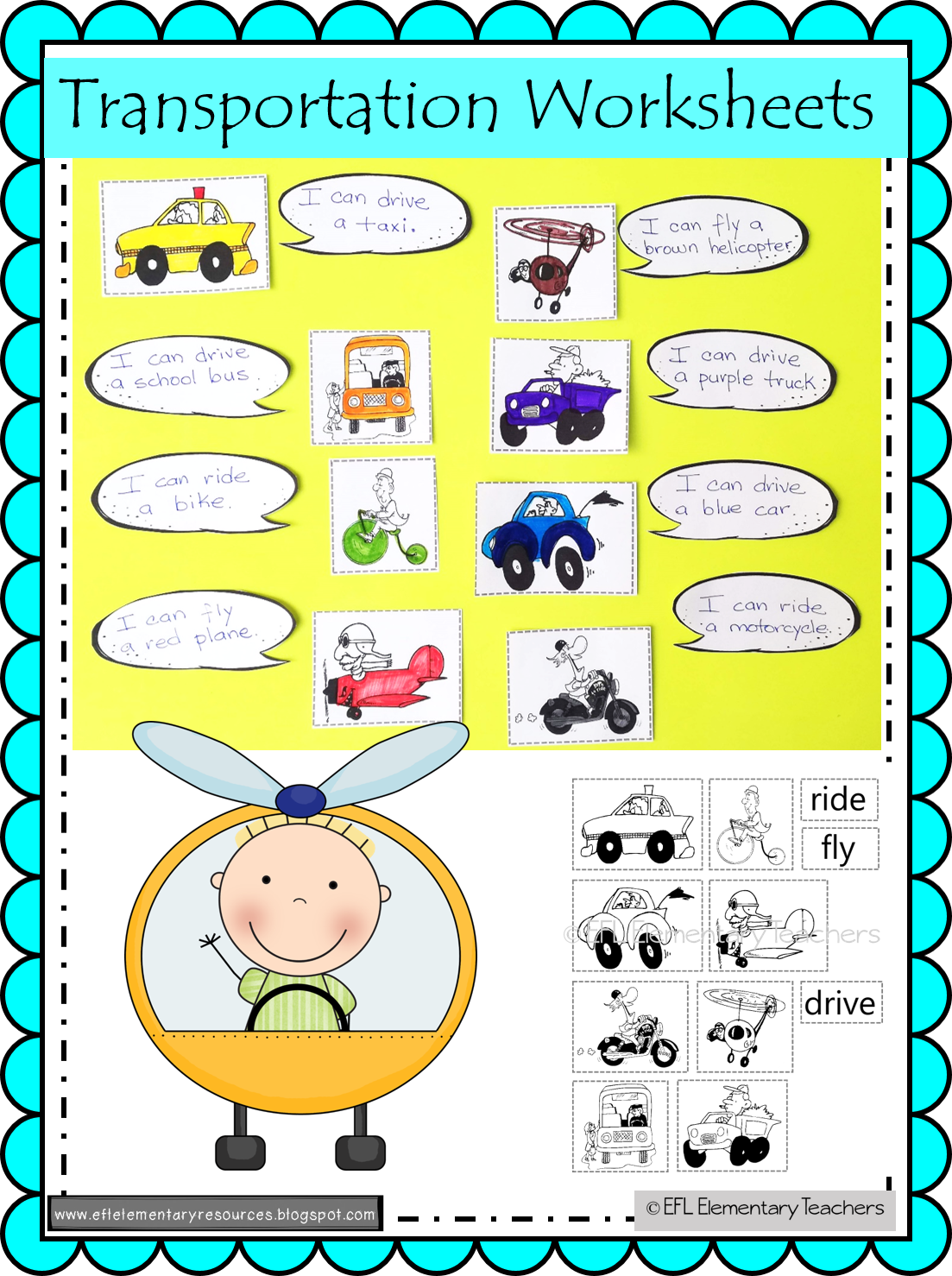 Transportation Theme For Elementary Esl In With Images