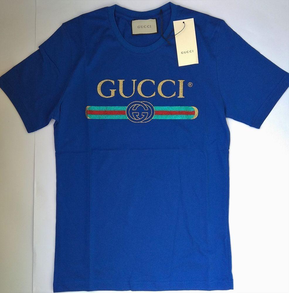 e0d44bcb871 New GG ITALY Men s T-Shirt Blue Size S Classic Logo 100% Cotton Balenciaga   fashion  clothing  shoes  accessories  mensclothing  shirts (ebay link)