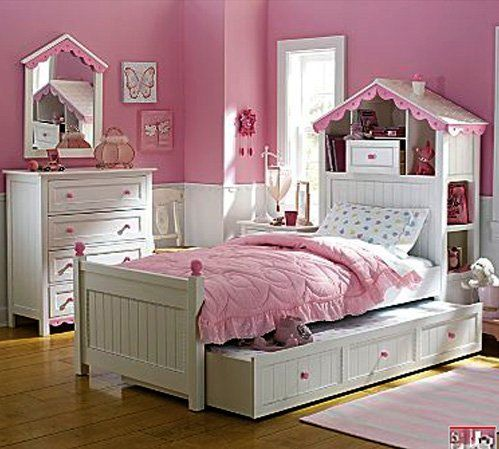 Little girls bed designs | Teenage Girls Pink Bedrooms Design ...
