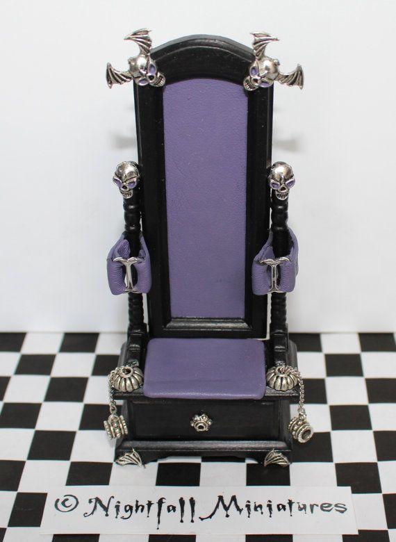 Dollhouse Miniature Purple Leather Gothic Bondage/Fetish ...