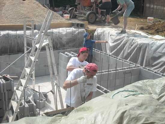 radier piscine Piscina BlockBeton Pinterest Construction