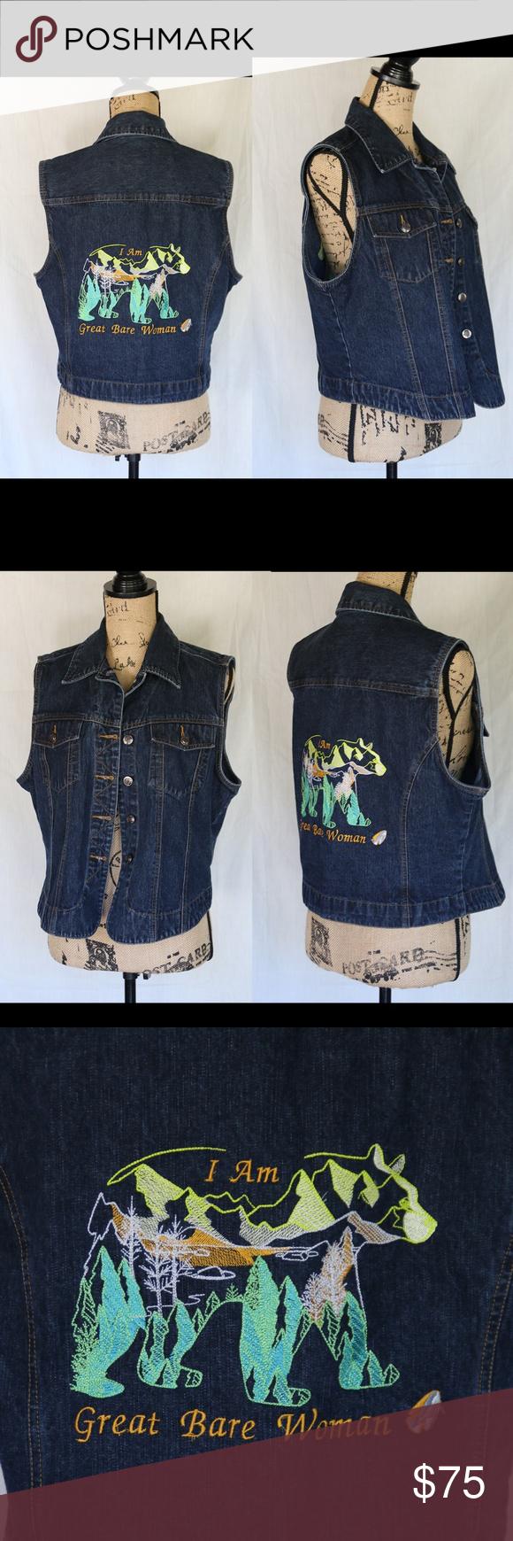 Women's Custom Jean Wild West Vest sz L Women's Custom Denim
