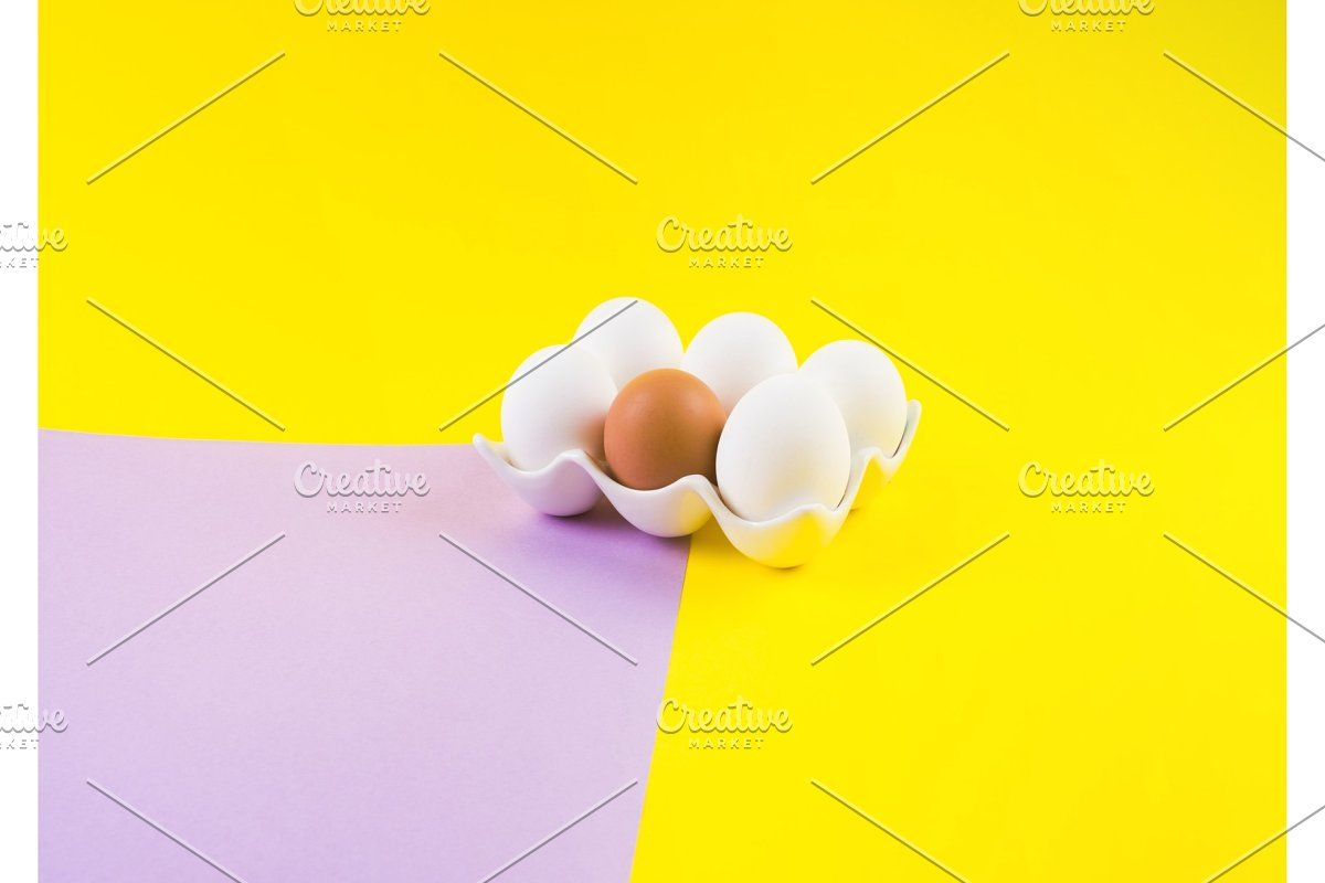 Photo of White and one brown egg on earthy #Sponsored , #Affiliate, #light#earthy#color#W…