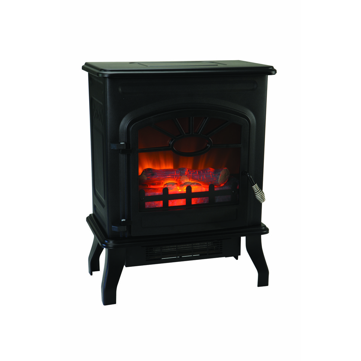 750 1500 Watt Wood Stove Style Electric Heater In 2020 Wood