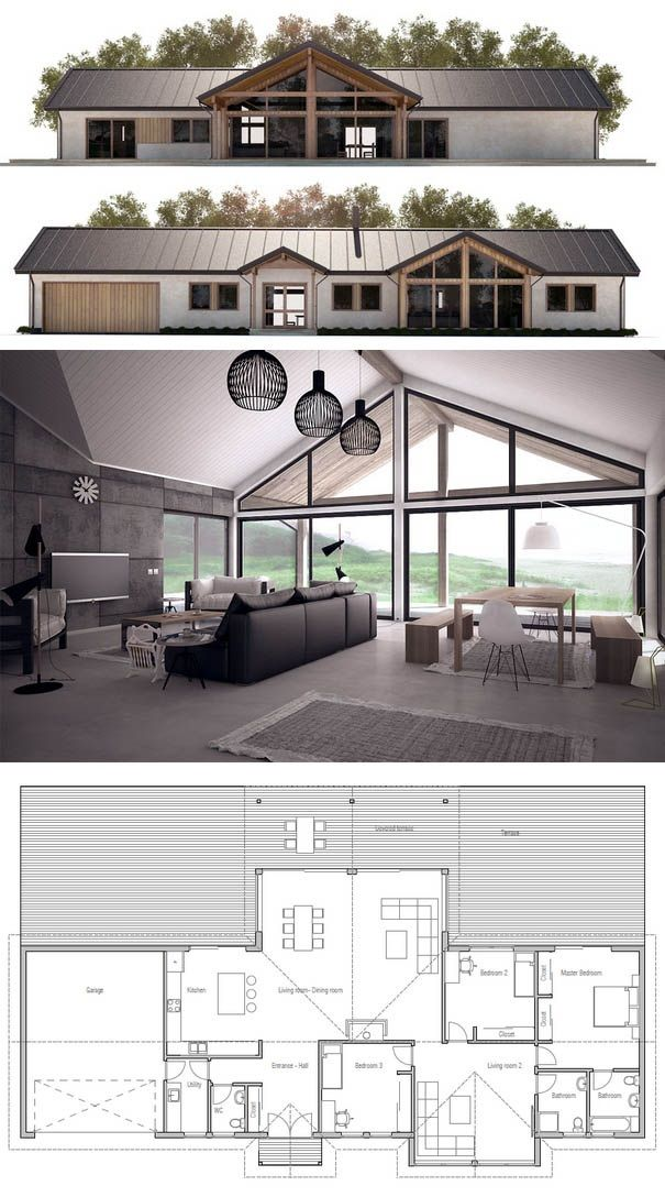 Plan de Maison Architecture Pinterest Casas, Futura casa and