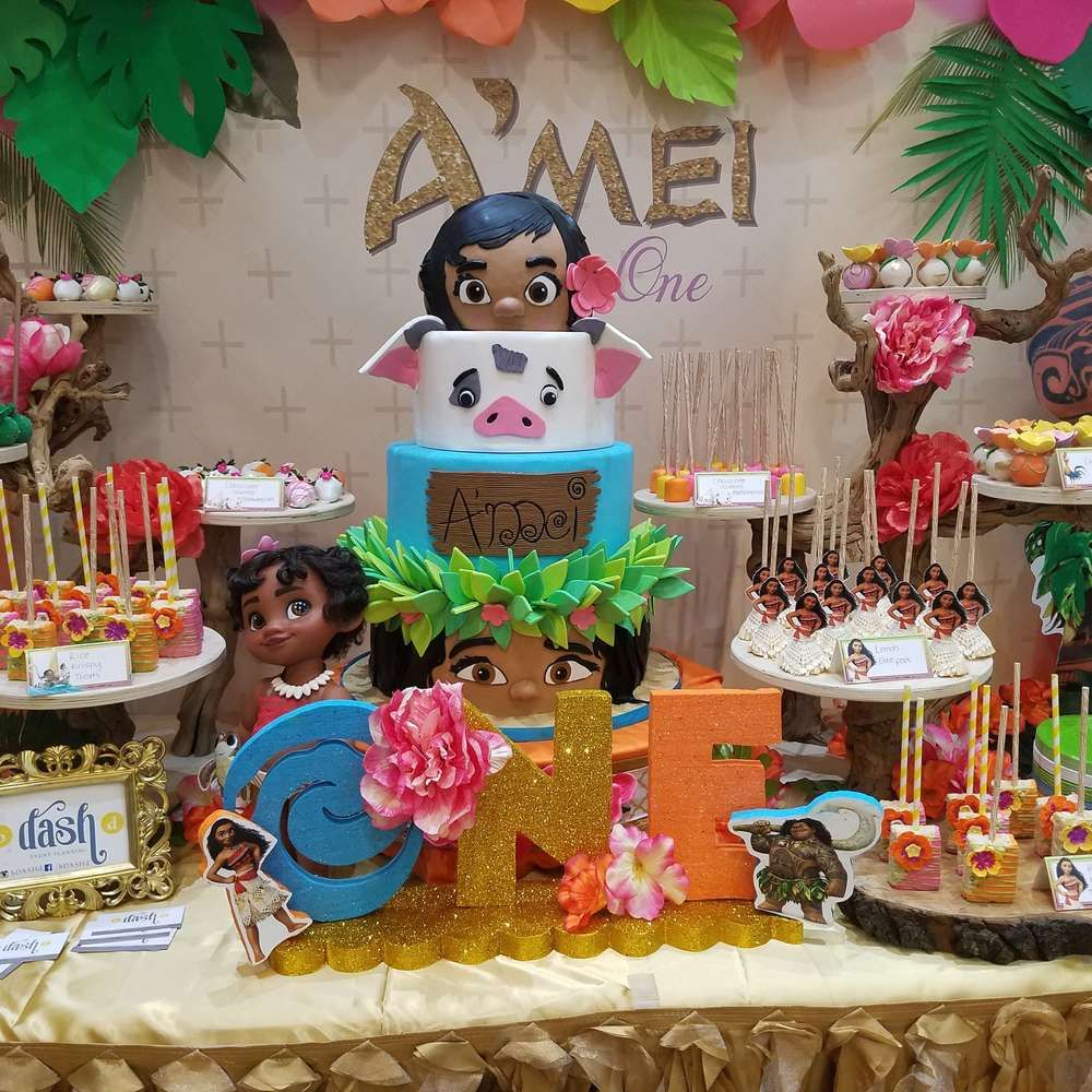 Moana Hawaiian Luau Birthday Party Ideas