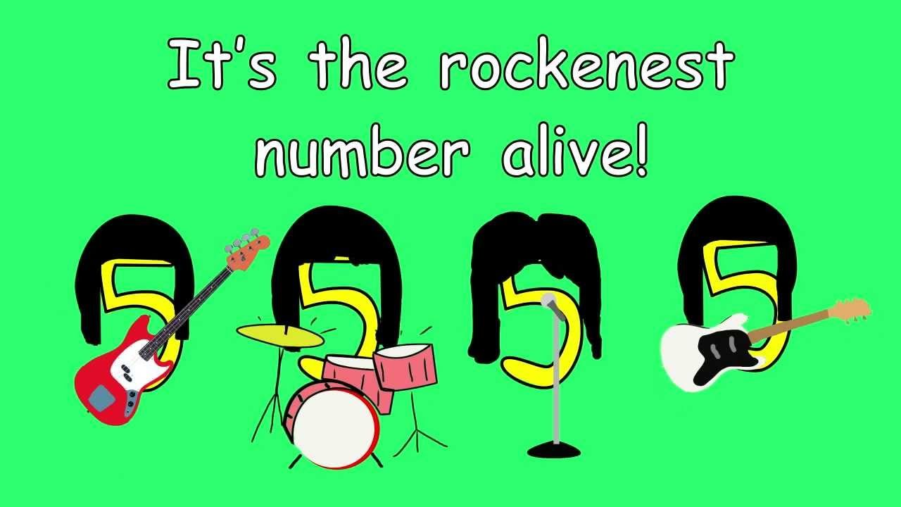 5 Times Table Song Rock N Five From Multiplication