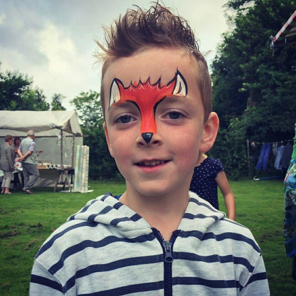Fox facepaint face painting carnival face paint painting