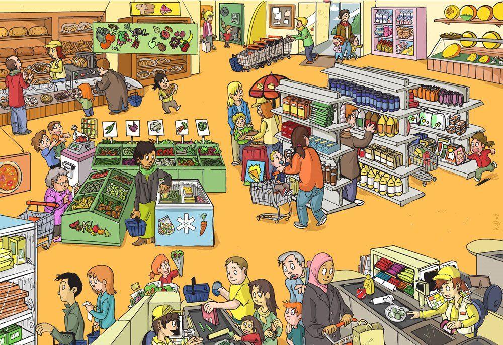 Praatplaat supermarkt | Winkels in de kleutergroep ...