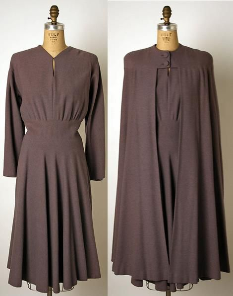 Base clothes. Woman.  Wool Ensemble, ca. 1940, American,  Valentina (American, b. Russia, 1899–1989)