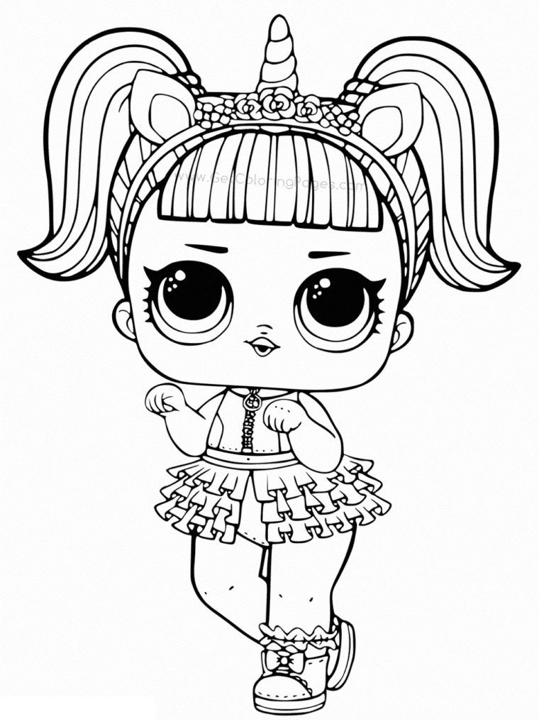 LOL Doll Coloring Pages Toys Coloring Pages Unicorn