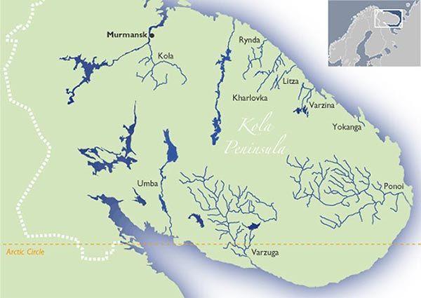Kola Peninsula Map World on siberia map, don river map, alps mountains map, finland map, kirghiz steppe map, rhine river map, novaya zemlya map, lake baikal map, thames river map, danube river map, sea of okhotsk map, laptev sea map, carpathian mountains map, white sea map, pyrenees map, northern european plain map, aral sea map, seine river map,