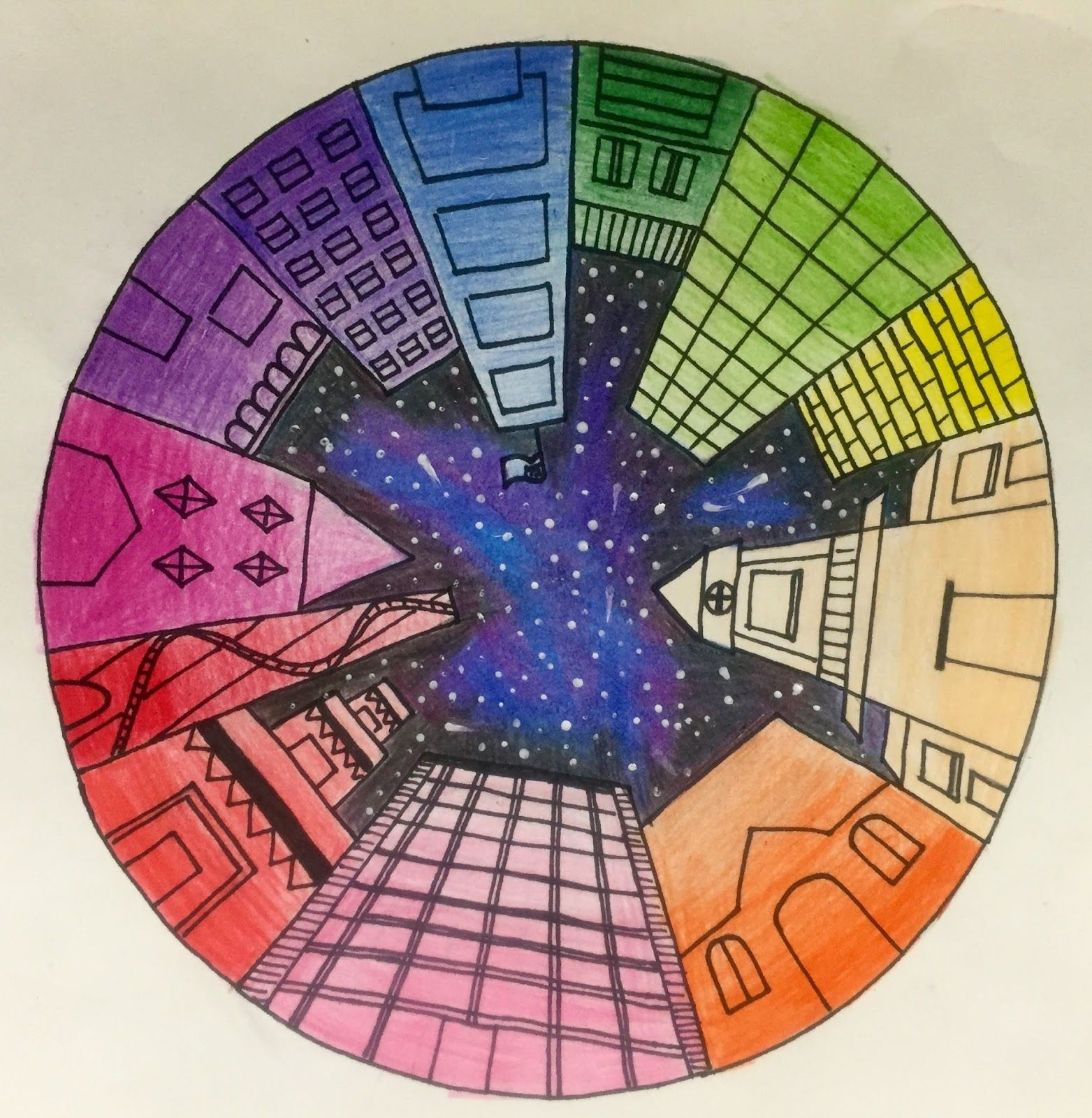 Objective students will create a color wheel using one point perspective accurate color - Show color wheel ...