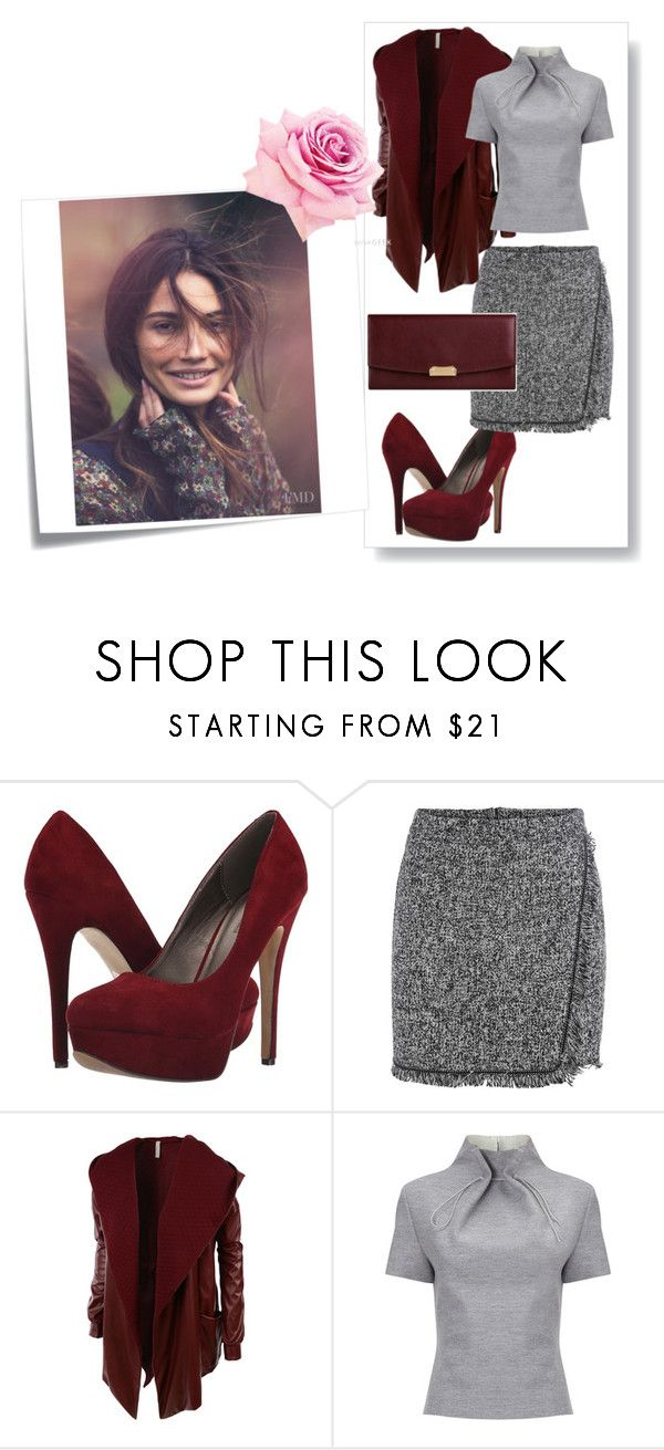 """""""Untitled #303"""" by letiperez01 ❤ liked on Polyvore featuring Michael Antonio, LE3NO, Post-It, J. JS Lee and Burberry"""
