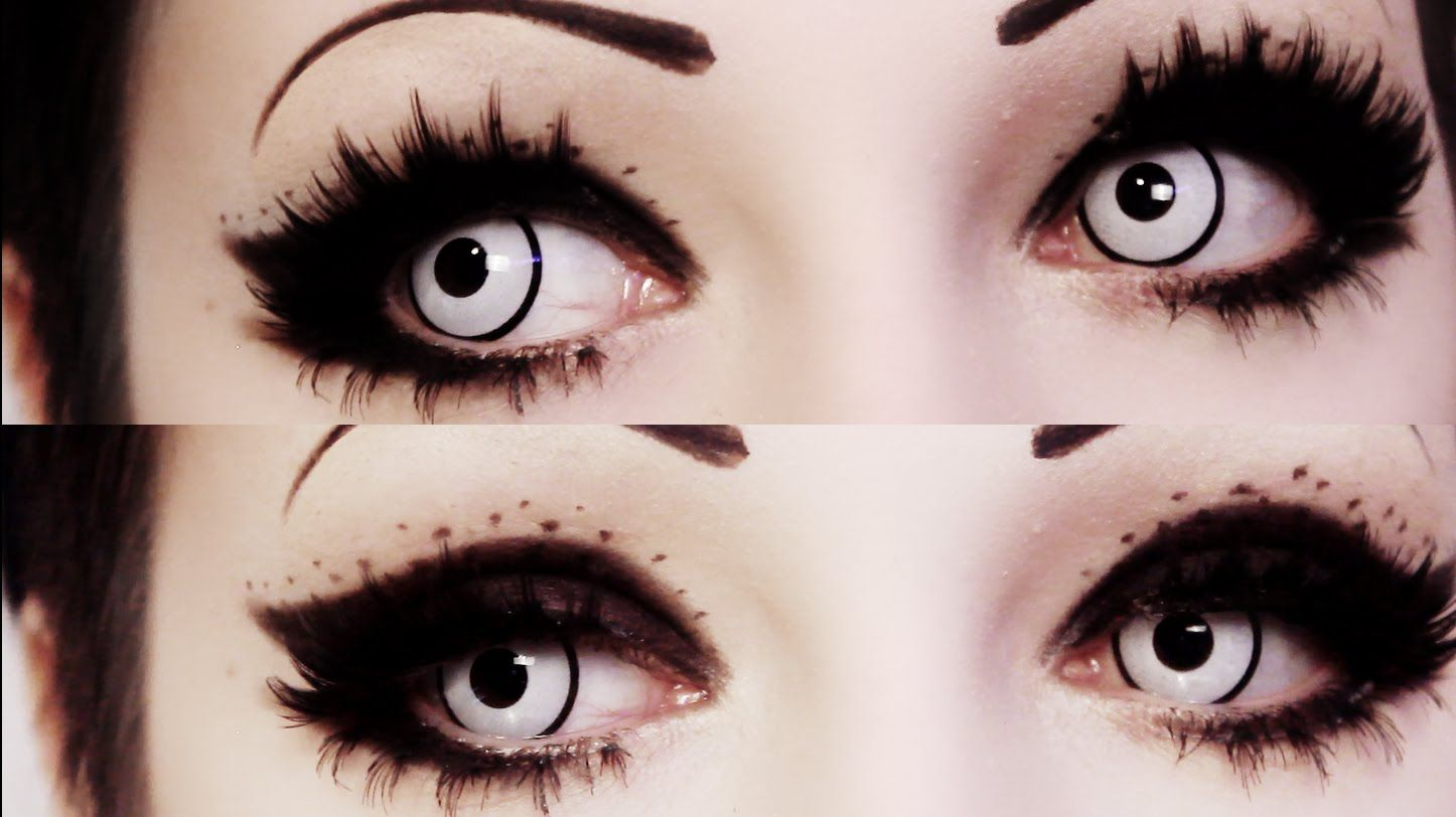 2019 year for girls- Makeup eye Goth