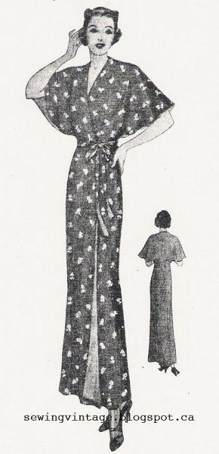 The Vintage Pattern Files: 1930\'s Sewing - Magic Reversible Kimono ...