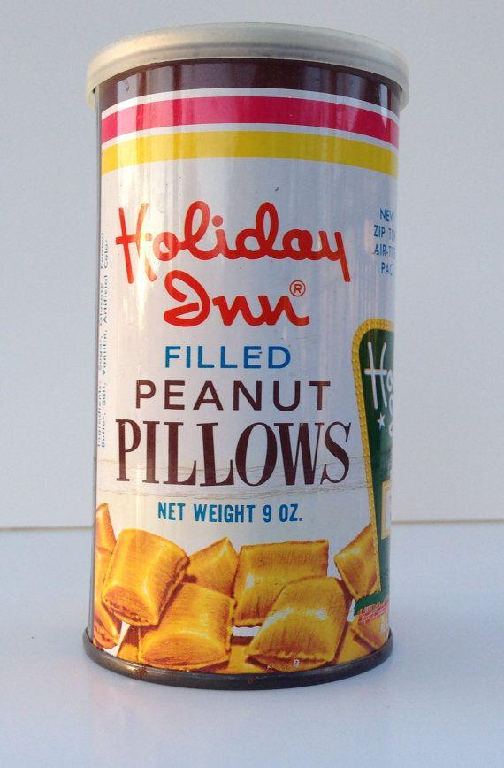 1970's Vintage Holiday Inn Peanut Pillows Can   Vintage ...