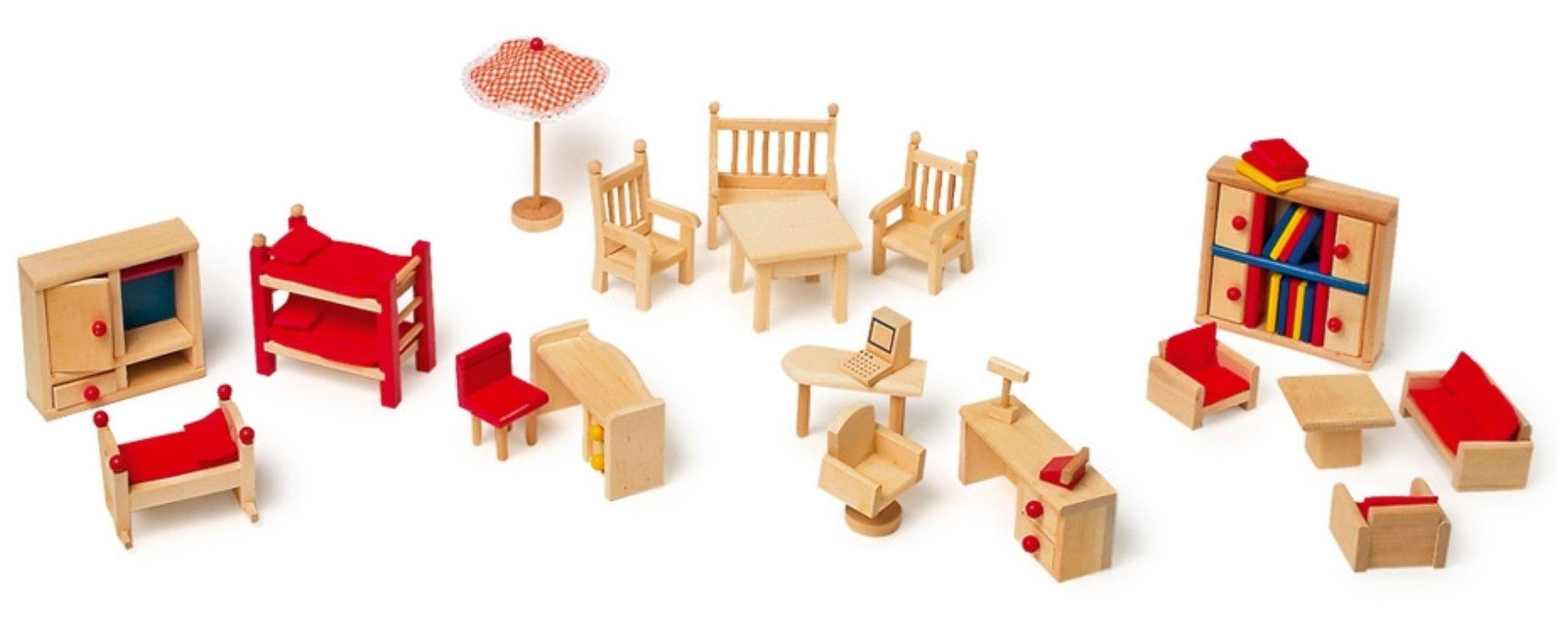 Muebles de madera para casitas de mu ecas casas de for Casitas de madera