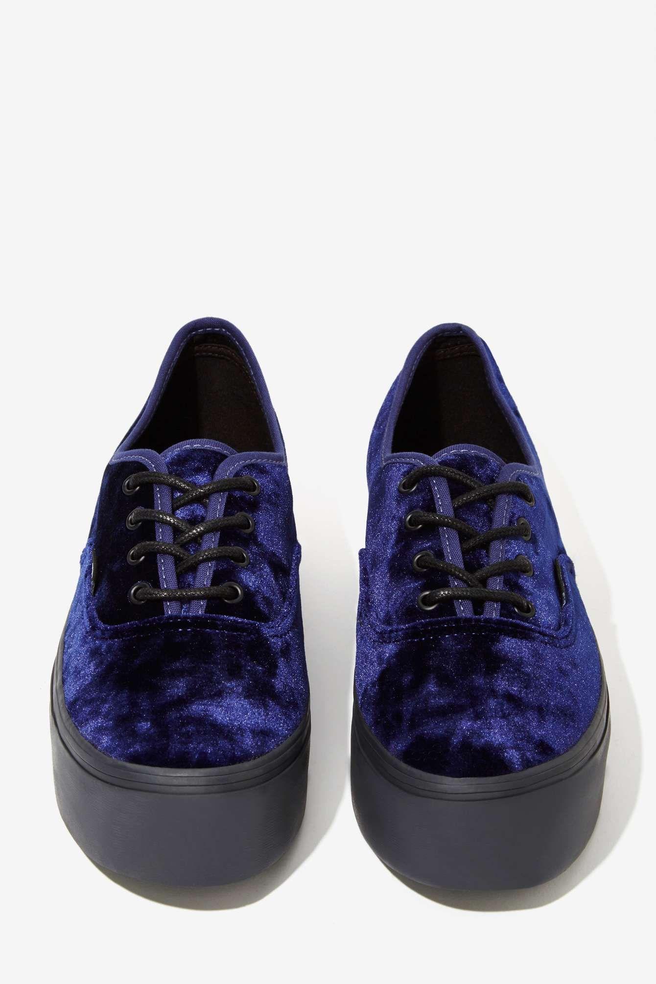 0f2ede495d0 Vans Authentic Platform Sneaker - Blue Velvet