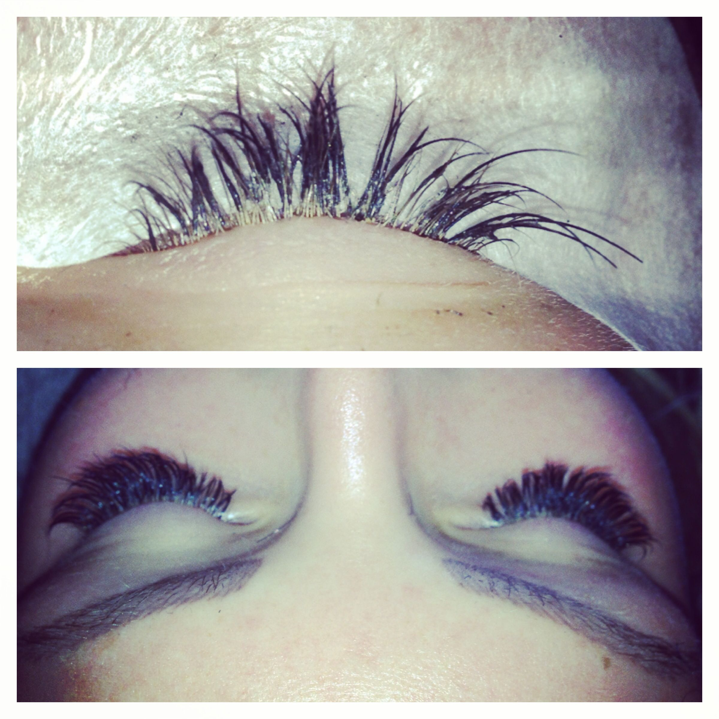 The Top Picture Is Poor Work By Another Eyelash Technician Work