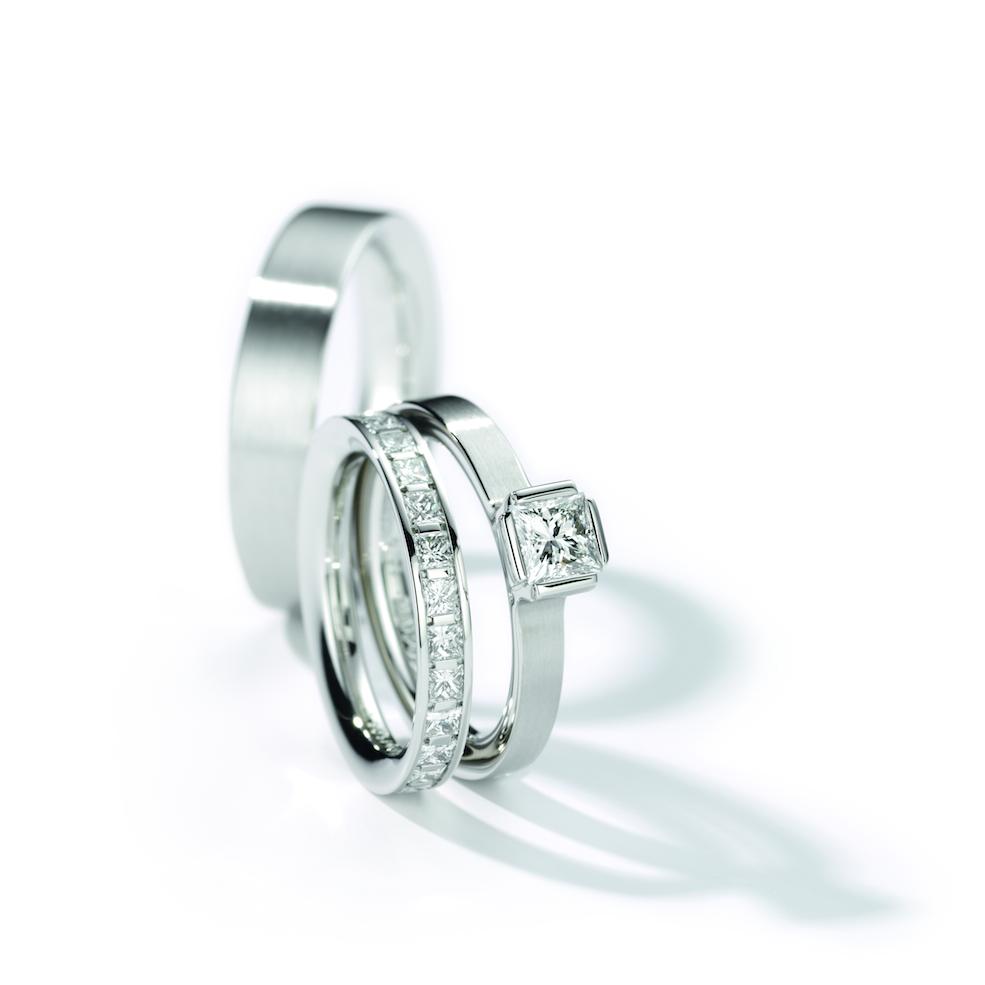 6dd7cf976 Henrich & Denzel - Lily Platinum Engagement Ring Set - ORRO Contemporary  Jewellery Glasgow