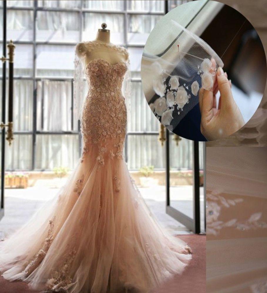 Elegant sweetheart mermaid wedding dresses blush appliques open back