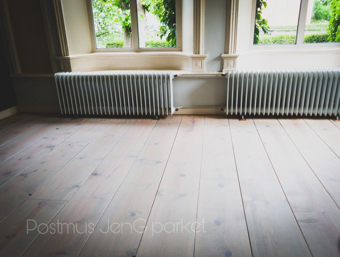 Houten vloer inspiratie oranje verkleurde grenen vloer omgetoverd
