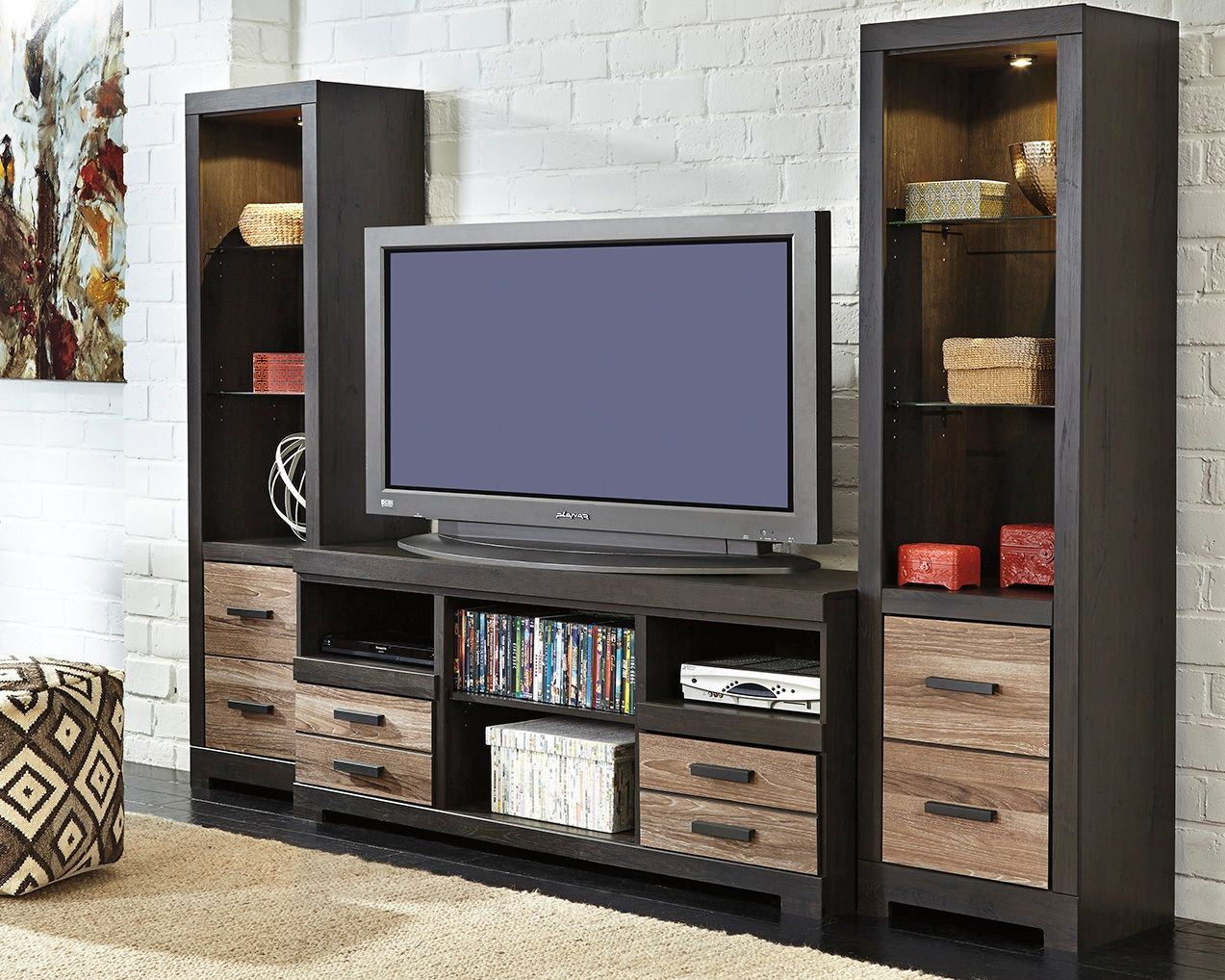 Harlinton piece entertainment center twotone products