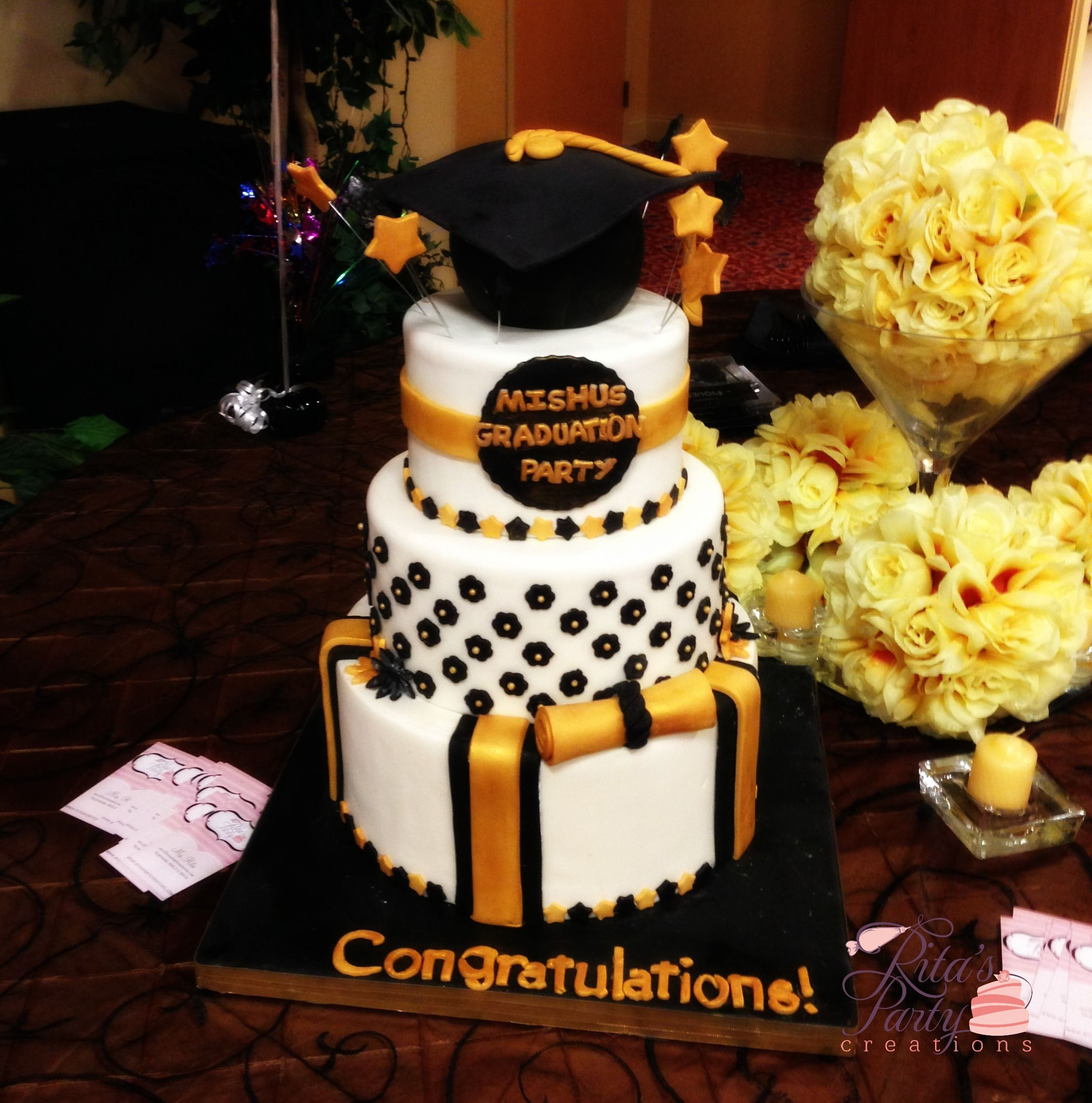 VCU Graduation Party Cake | Rita's Party Creations Cakes | Pinterest