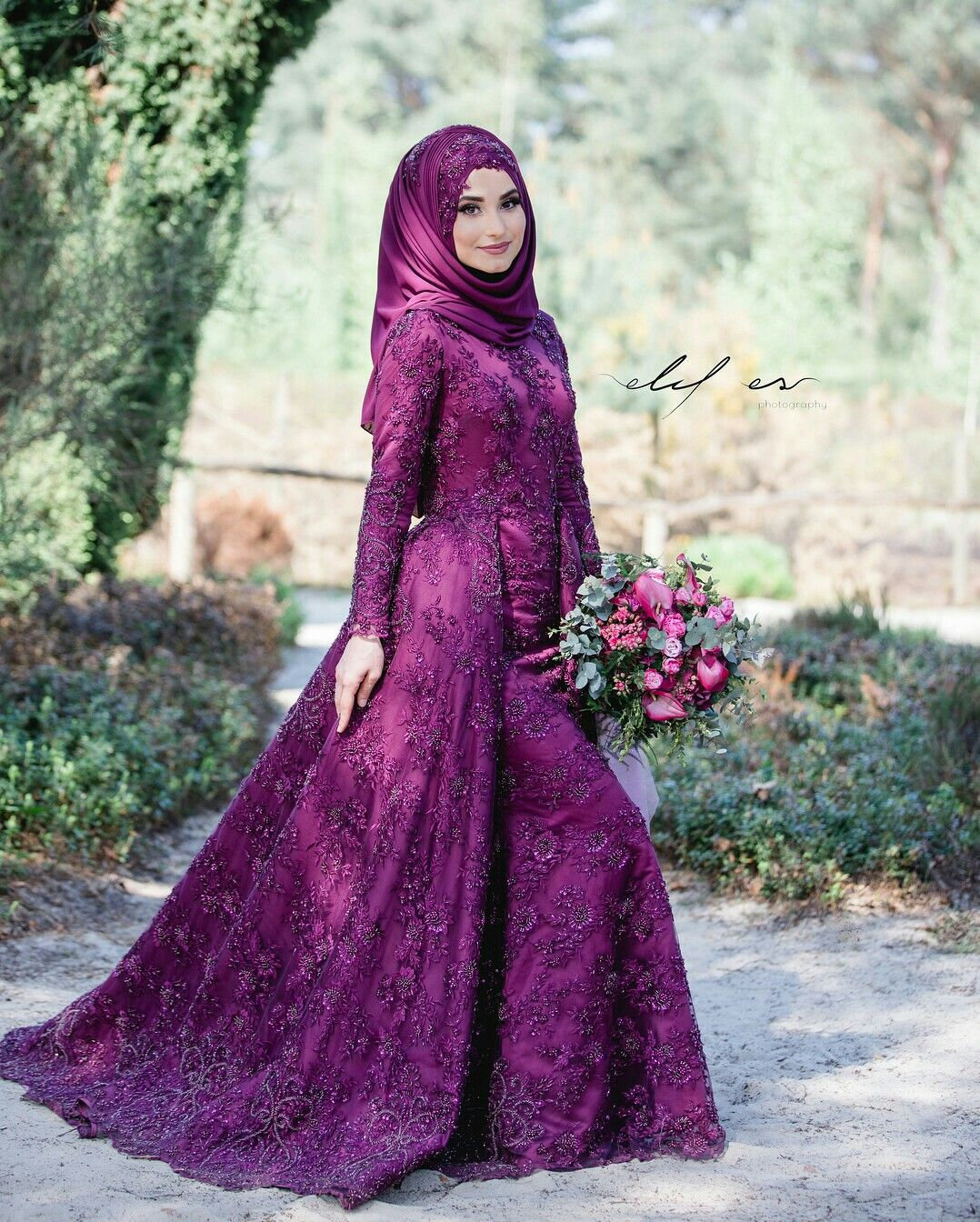 Pin By Shaufa On Awesome Hijab And Dress Prom Dresses Long With Sleeves Hijab Dress Party Muslim Wedding Dresses [ 1344 x 1078 Pixel ]